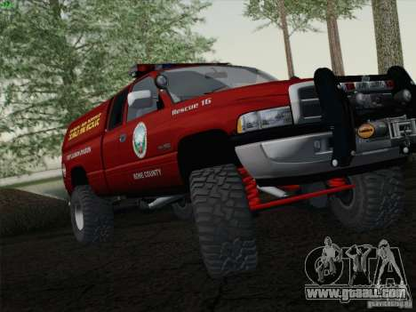 Dodge Ram 3500 Search & Rescue for GTA San Andreas back left view