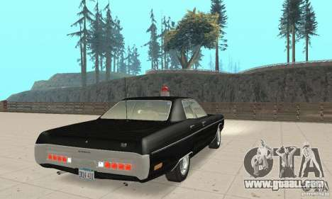 Plymouth Fury III Police for GTA San Andreas left view