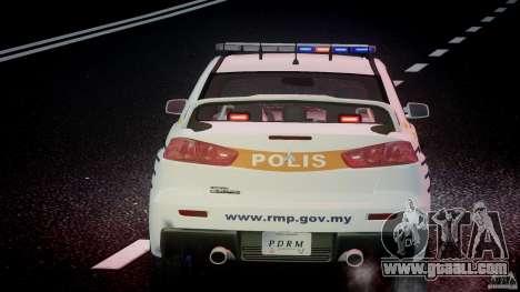 Mitsubishi Evolution X Police Car [ELS] for GTA 4 interior