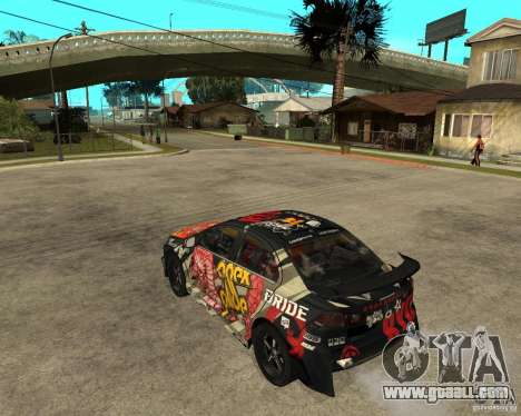 Mitsubishi Lancer EVO for GTA San Andreas left view