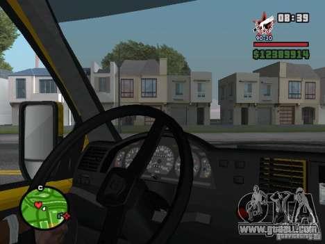 Active dashboard for GTA San Andreas