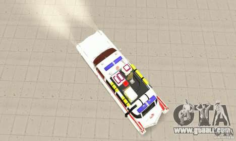 Ghostbusters ECTO 1 for GTA San Andreas back left view