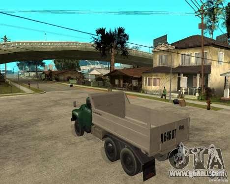 ZIL 133 dump truck for GTA San Andreas left view