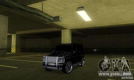 Mercedes Benz G500 ART FBI for GTA San Andreas left view
