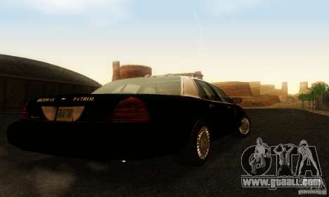 Ford Crown Victoria Wyoming Police for GTA San Andreas left view
