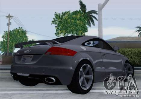 Audi TT-RS Coupe for GTA San Andreas back left view