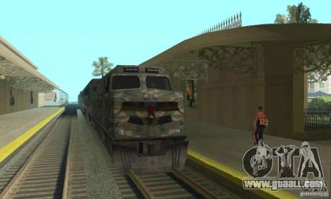 Camo train for GTA San Andreas left view