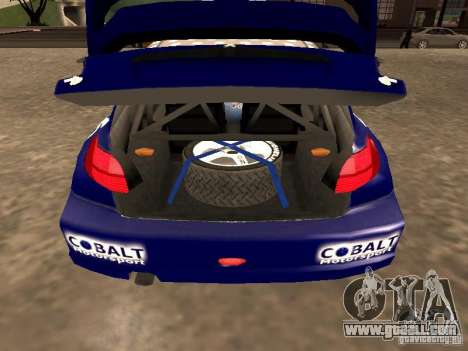 Peugeot 206 WRC from Richard Burns Rally for GTA San Andreas back view