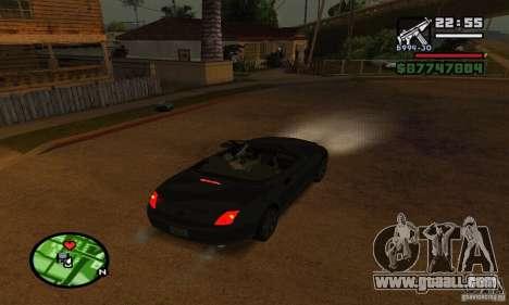 Lexus SC430 for GTA San Andreas upper view