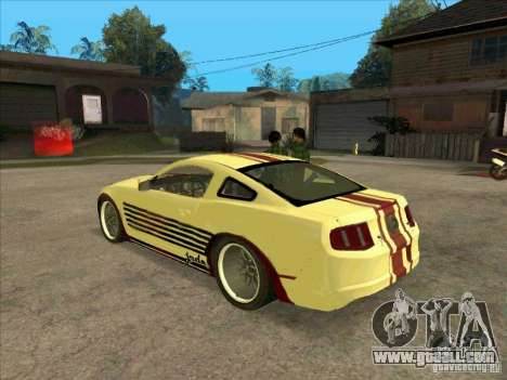 Ford Mustang Jade from NFS WM for GTA San Andreas back left view