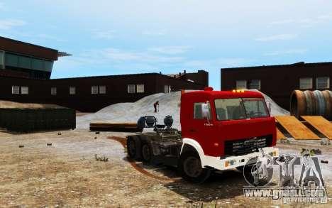 KAMAZ 54115 for GTA 4 back view