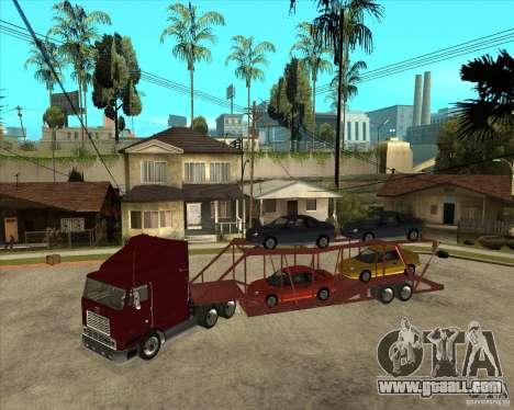 Semi-trailer Truck for GTA San Andreas back view