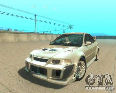 Mitsubishi Lancer Evolution VI 1999 Tunable for GTA San Andreas interior