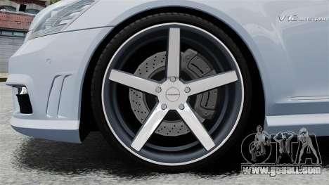 Mercedes-Benz S65 W221 Vossen v1.2 for GTA 4 back view