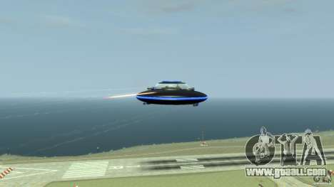 UFO neon ufo blue for GTA 4 back view