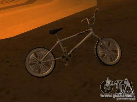 New Bmx for GTA San Andreas back view