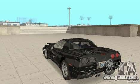Chevrolet Corvette 5 for GTA San Andreas upper view