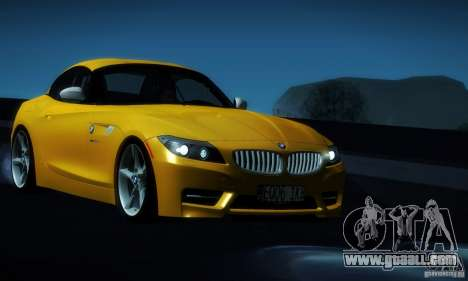 BMW Z4 Stock 2010 for GTA San Andreas side view