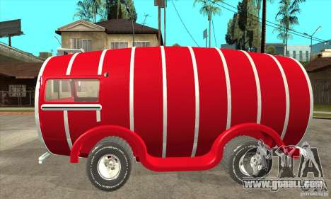 Beer Barrel Truck for GTA San Andreas left view