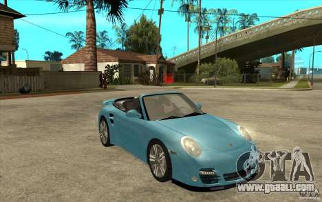 Porsche 911 Cabriolet 2010 for GTA San Andreas back view