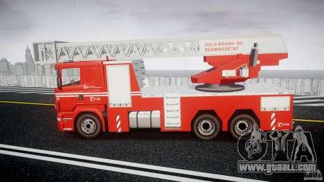 Scania Fire Ladder v1.1 Emerglights blue [ELS] for GTA 4 left view