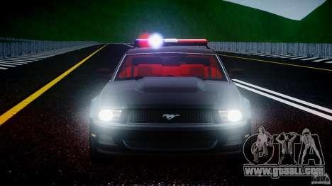 Ford Mustang V6 2010 Police v1.0 for GTA 4 engine