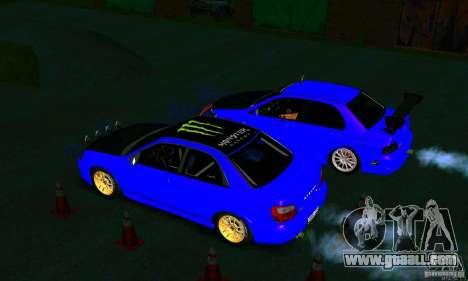 Subaru Impreza WRX Rally for GTA San Andreas inner view