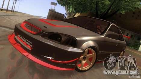 Honda Civic SI for GTA San Andreas side view