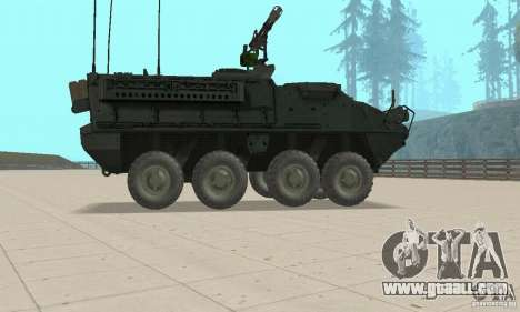Stryker for GTA San Andreas back left view