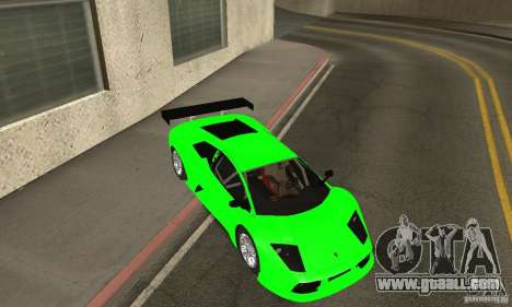 Lamborghini Murcielago R GT for GTA San Andreas bottom view