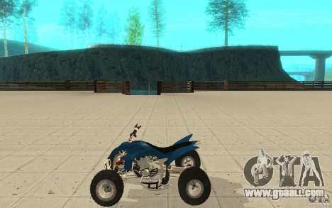 Yamaha YFZ 450 SuperCross Skin 1 for GTA San Andreas left view