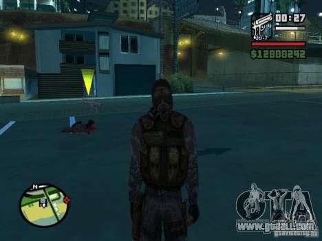 Stalker mercenary in the new kombeze for GTA San Andreas