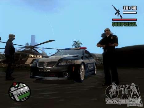 Pontiac G8 Police for GTA San Andreas