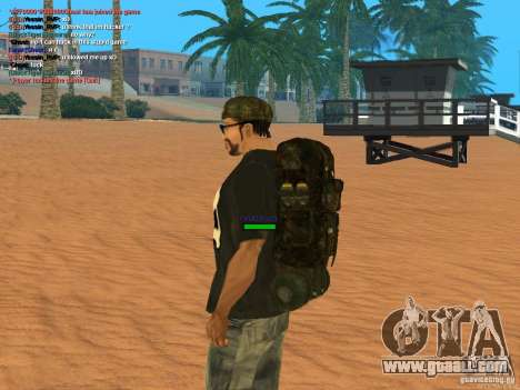 Military backpack for GTA San Andreas