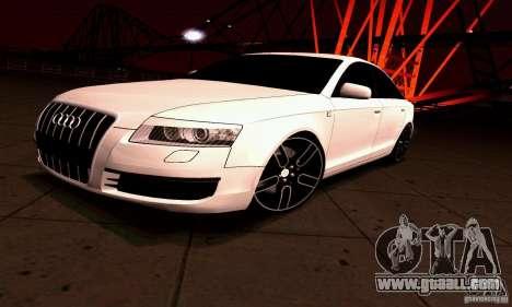 Audi A6 Blackstar for GTA San Andreas back left view