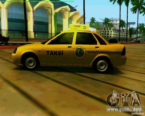 LADA 2170 Priora Baki taksi for GTA San Andreas back left view
