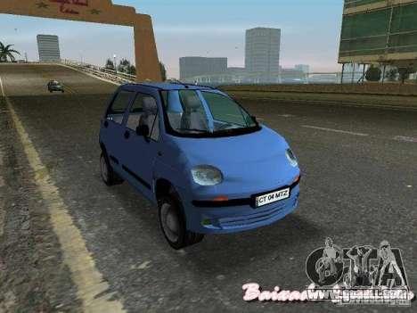 Daewoo Matiz for GTA Vice City back left view