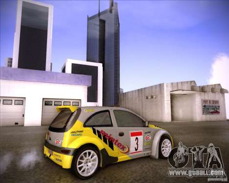 Opel Corsa Super 1600 for GTA San Andreas side view
