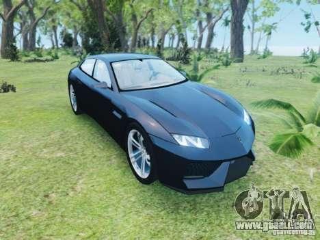 Lamborghini Estoque for GTA 4 back view