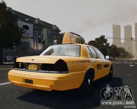 Ford Crown Victoria NYC Taxi 2012 for GTA 4 back left view