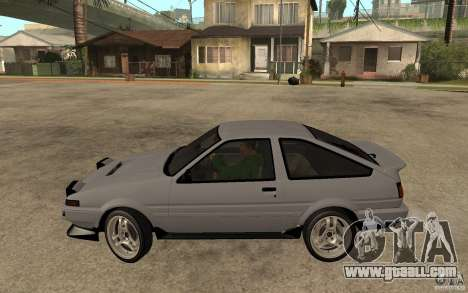 Toyota Corolla AE86 for GTA San Andreas left view