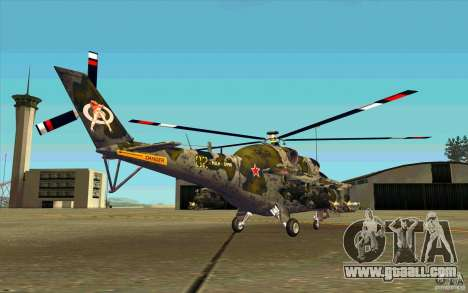 Mi-24 for GTA San Andreas right view