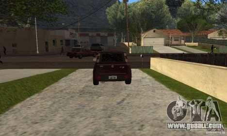 Fiat Novo Uno Sporting for GTA San Andreas back left view