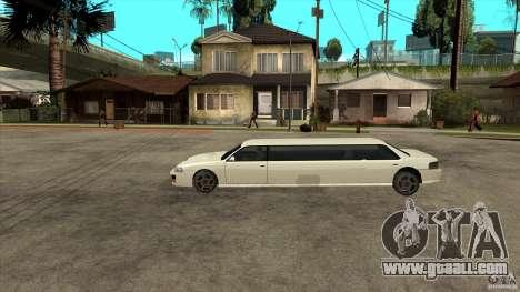 Sultan limousine for GTA San Andreas left view