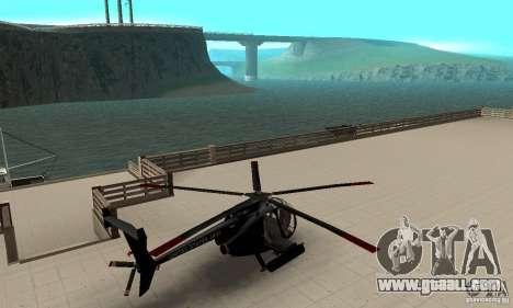 AH-6C Little Bird for GTA San Andreas back left view
