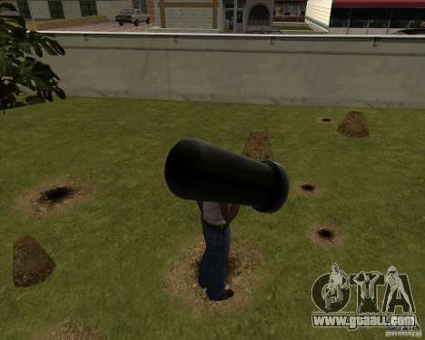 Cannon from Serious Sam for GTA San Andreas second screenshot