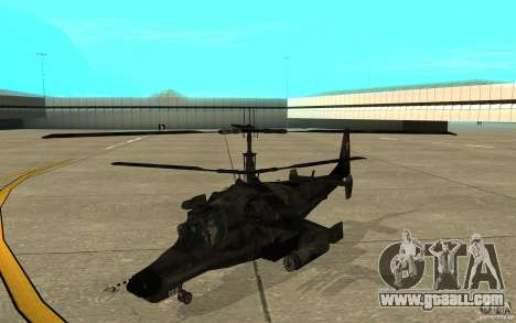 Kamov KA 50 Dlack Shark for GTA San Andreas left view