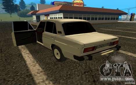 VAZ 2106 v. 2 for GTA San Andreas back left view