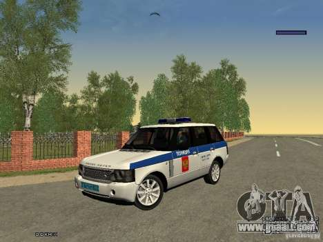 Range Rover Supercharged 2008 Police DEPARTMENT for GTA San Andreas side view