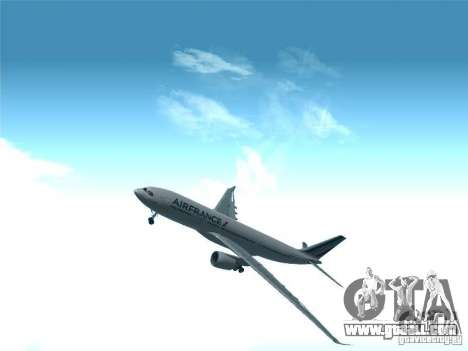 Airbus A330-200 Air France for GTA San Andreas side view
